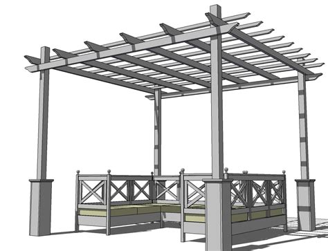 Pergola In Plan by 20 X 20 Pergola Plans Homedesignpictures