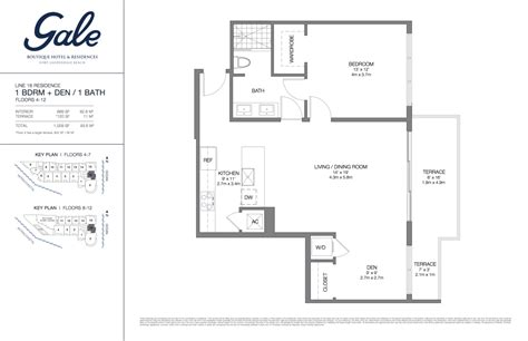the gale floor plan gale boutique hotel residences condominium for sale fort lauderdale