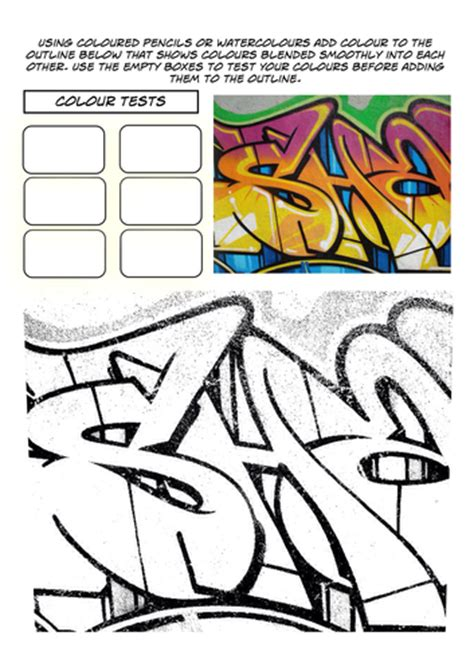 set   graffiti worksheets  rnd teaching resources