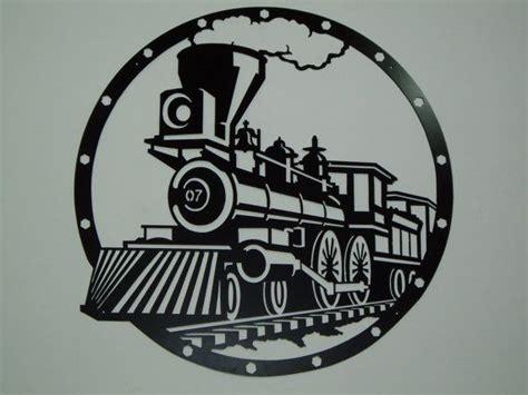 railroad steam engine metal wall art powder design and