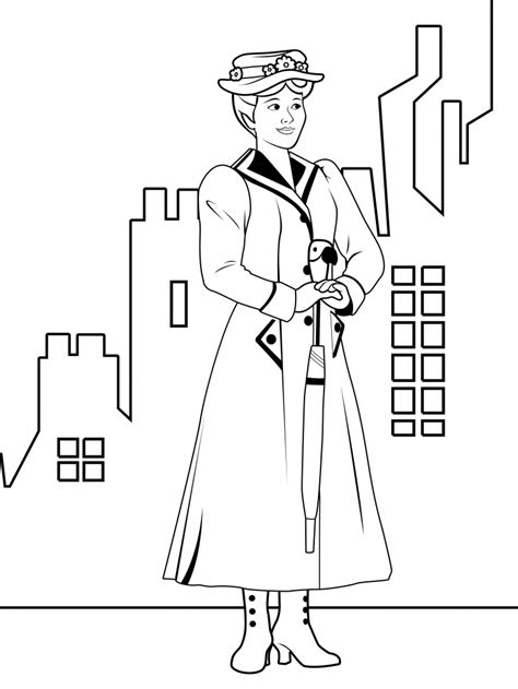 mary poppins coloring page coloring home