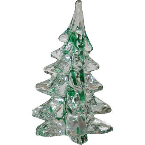 green ribbon lead glass christmas tree from rubylane sold