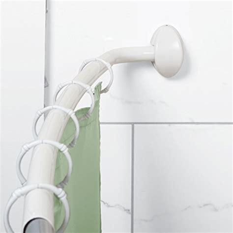40 Inch Shower Curtain zenna home 35605ww neverrust aluminum curved shower