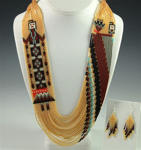navajo beaded necklace by rena charles hoel s indian shop