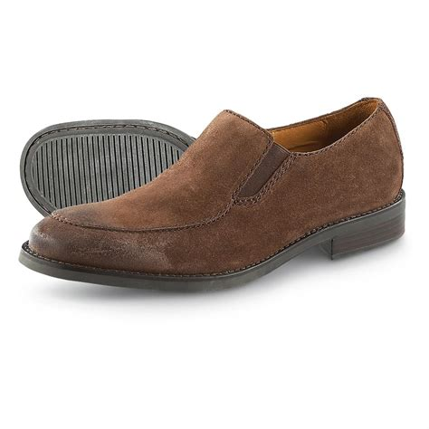 H Wood Dress Shoes by S H S Trask 174 Broadwater Slip On Casual Shoes Brown 190733 Dress Shoes At Sportsman S