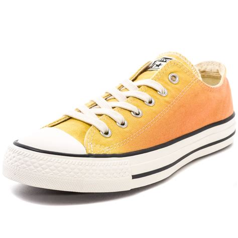 Convers Tanggal Orange 1 converse chuck all ox womens trainers in yellow orange