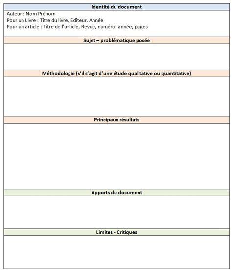 Modèle Fiche De Lecture exemple fiche de lecture en sociologie document