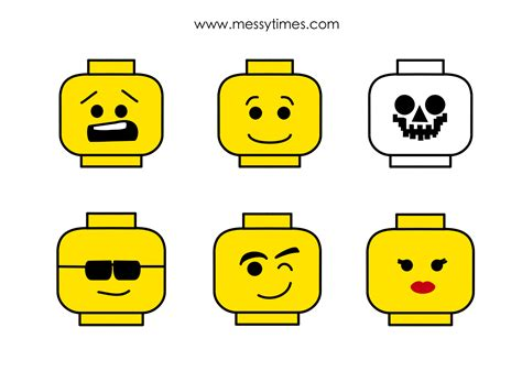 free coloring pages of the lego faces