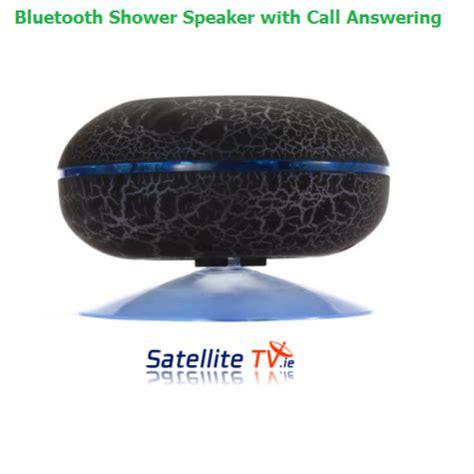 Bluetooth Bathroom Speaker Bluetooth Shower Speaker Black Water Resistant Iphone Android Satellite Tv Ireland