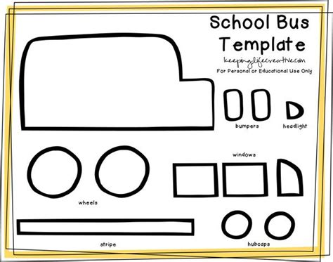 free printable school bus craft template creative buses