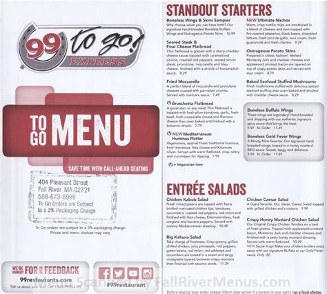 99 restaurant day menu 99 restaurant pub 99 fall river restaurants
