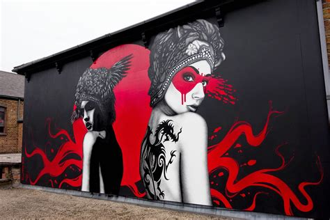 Wall Murals Vancouver fin dac and eelus collaborate on west london street art