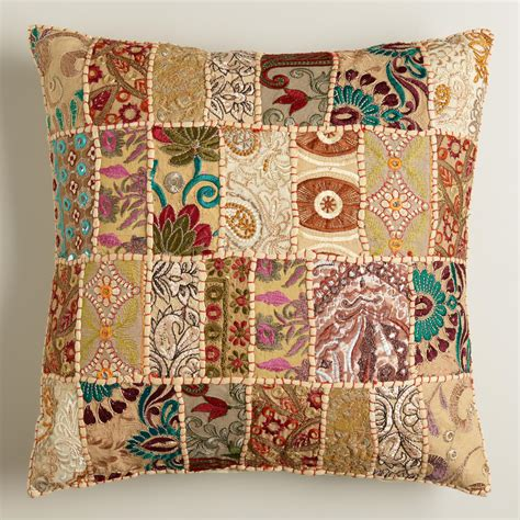Patchwork Pillow - patchwork throw pillow world market