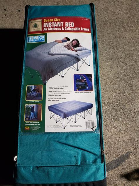 instant bed air mattress  collapsible frame  sale