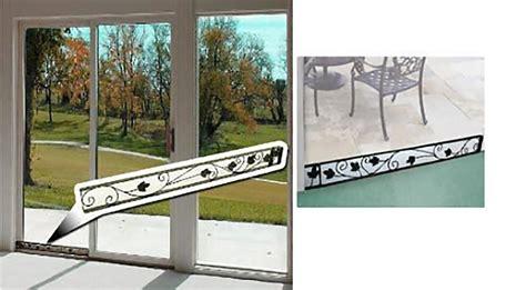 decorative patio doors decorative sliding patio door steel security stopper 29