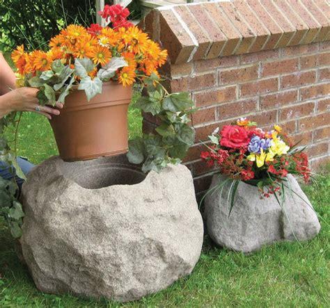 Rock Garden Planters Blossom Boulders Faux Rock Planters The Green