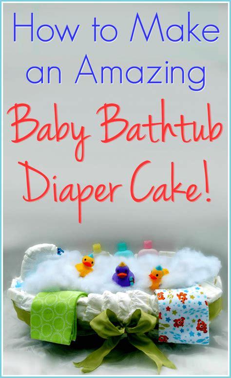 baby bathtub diaper cake  step  step
