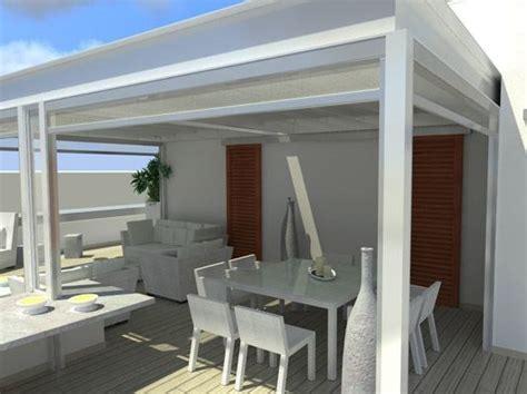 scoli tessuti arredamento pergolato in acciaio inox con copertura scorrevole veranda