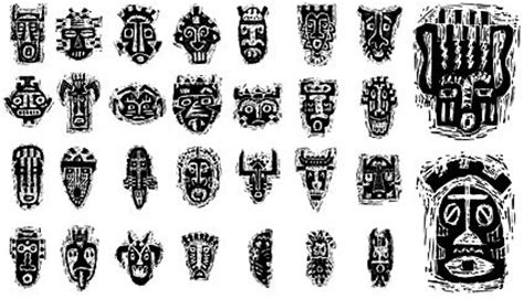 african tribal mask pattern vector images clipart me
