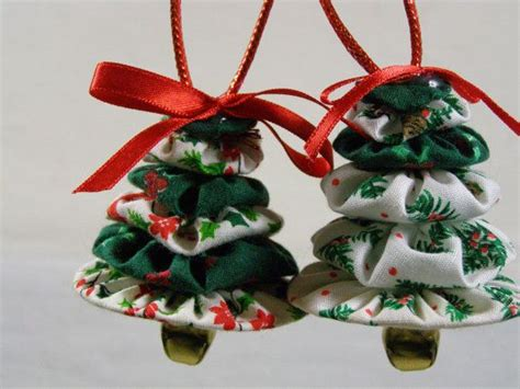 handmade christmas ornaments yo yo christmas trees set of 2