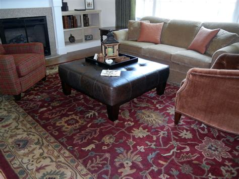 Area Rugs For The Living Room Large Square Ottoman Living Room Traditional With Area Rugs Casual Dcor Beeyoutifullife