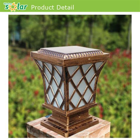 Solar Pillar Light High Quality Die Aluminum Post L Outdoor Gate