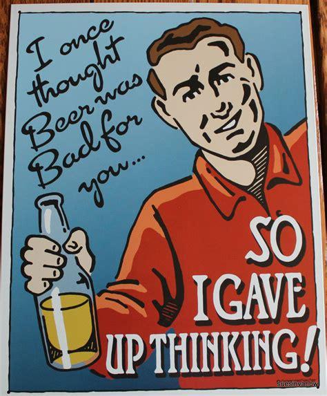 funny beer cartoon new cartoon tin sign funny alcoholic drunken stupid man