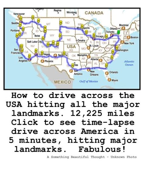 How To Drive Across The Usa Hitting All The Major | how to drive across the usa hitting all the major