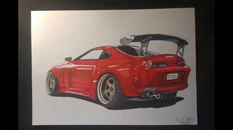 toyota supra drawing toyota supra mk4 drawing k d m