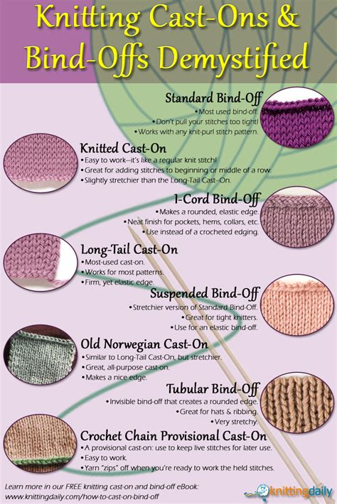 casting off in pattern knitting bind off knitting 4 easy bind off knitting methods
