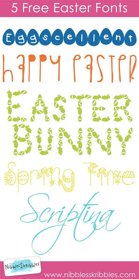 printable easter fonts 5 free easter fonts nibbles skribbles