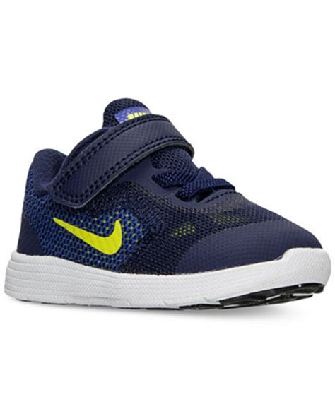 boys velcro athletic shoes nike toddler boys revolution 3 velcro running sneakers