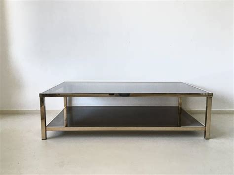 Exclusive Coffee Tables Exclusive 23 Carat Rectangular Gold Plated Coffee Table 1960s For Sale At 1stdibs
