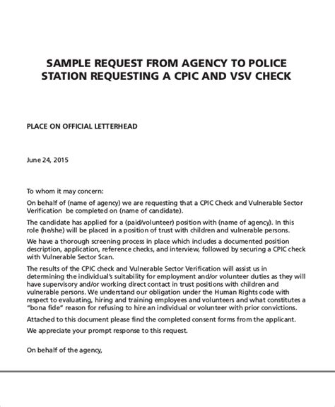 Request Background Check Sle Reference Request Letters 8 Exles In Pdf Word