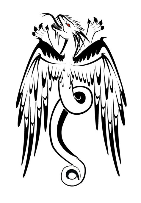 winged dragon tattoo designs eagle images designs