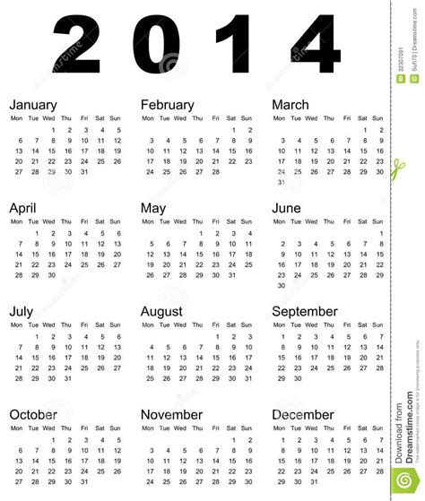 Sell Calendar Photos 2014 Calendar Stock Vector Image Of Months Time Simple