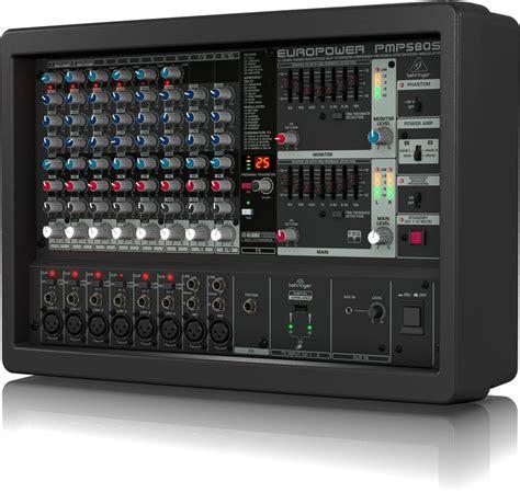 Power Mixer Behringer 4 Channel pmp580s powered mixers mixers behringer categories