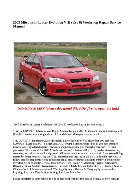 car maintenance manuals 2003 mitsubishi lancer evolution user handbook car owners manuals for sale 2003 mitsubishi lancer evolution engine control 28 2003 mitsubishi
