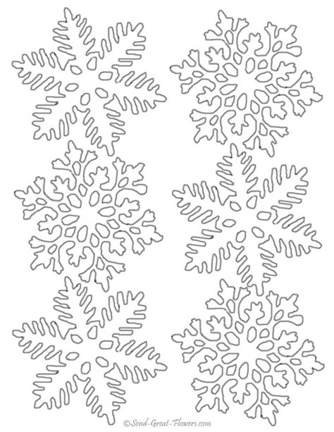 printable snowflakes small snowflake patterns to print download winter coloring