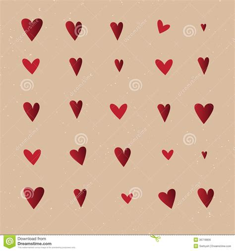 vintage heart pattern seamless pattern with hearts vector repeating texture