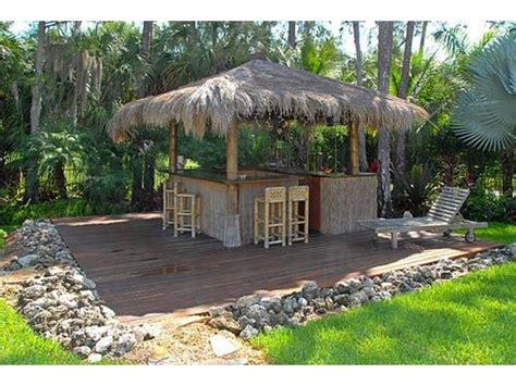 tiki bar in the backyard yes please home decor log