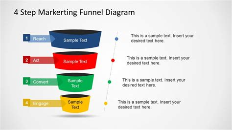 sales funnel template powerpoint 4 step marketing funnel diagram for powerpoint slidemodel