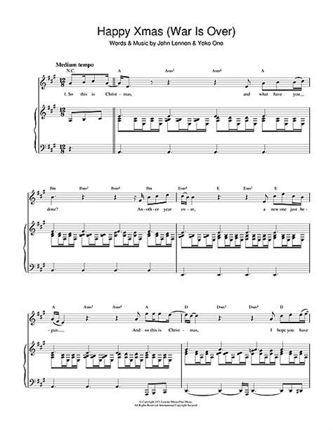 Happy Xmas (War Is Over) sheet music by John Lennon (Piano