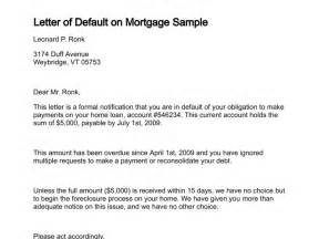 Mortgage Default Letter Template Notice Of Default Letter Sample Free Printable Documents