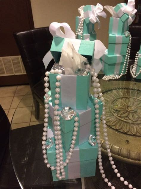 and co themed centerpieces blue boxes by closetttreasures birthday ideas in 2019