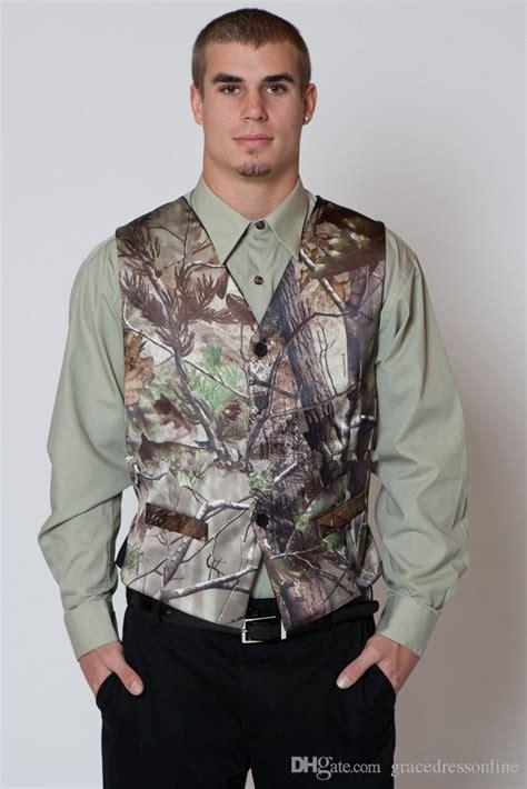 mens camo wedding suits 2016 new camo vest realtree mens wedding suits v neck