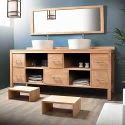 meuble salle de bain bois 2 vasques meuble d 233 coration
