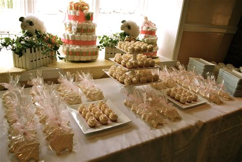 Desserts For Baby Shower by Cookie Favors And Dessert Table The Treat
