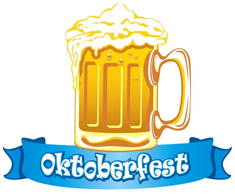 beer cartoon transparent oktoberfest banner with beer png clipart image gallery