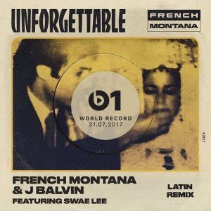 j balvin unforgettable french montana ft j balvin y swae lee unforgettable